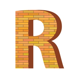 Brick letter R vector