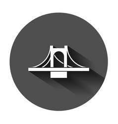 Bridge sign icon in flat style drawbridge on vector