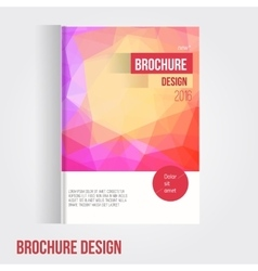 brochure cover design template with vector image