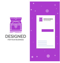 Business logo for box chest gold reward treasure vector