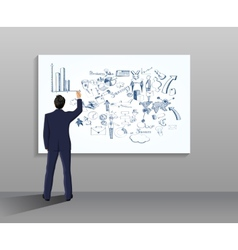 Businessman drawing vector image