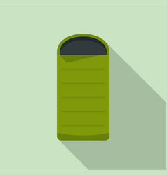 camp sleeping bag icon flat style vector image