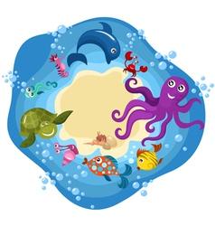 Cartoon sea creachers vector