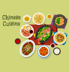 chinese cuisine dinner icon for asian food design vector image
