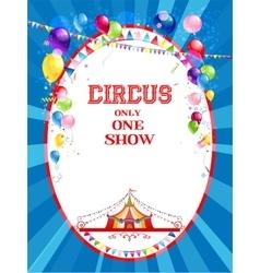 Circus bright poster vector
