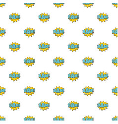 comic boom bam pattern seamless vector image