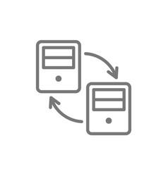 computer data transfer line icon vector image