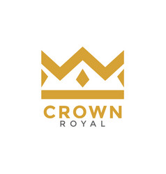 crown royal graphic design template vector image