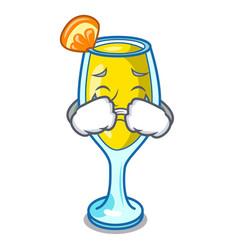 Crying mimosa mascot cartoon style vector