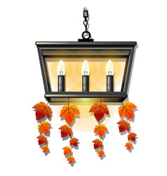 Decorative hanging wall lamp or a sconce with vector