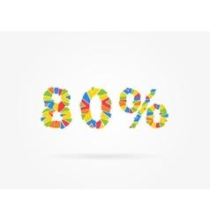 Discount 80 percent vector image