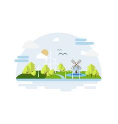 eco city modern flat design style concept energy vector image