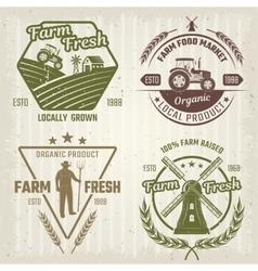 Farm Retro Style Logos vector
