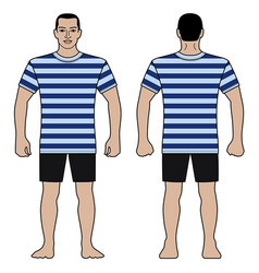 fashion man figure and t shirt design with vector image