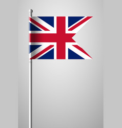 Flag of united kingdom national flag on flagpole vector