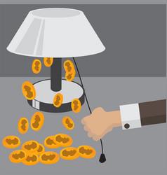 flat backgrounds set money saving vector image