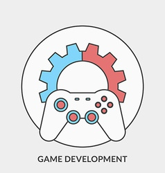 Flat design concept for Game Development fo vector