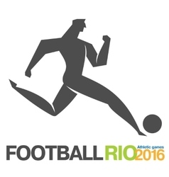 Flat icon games soccer vector