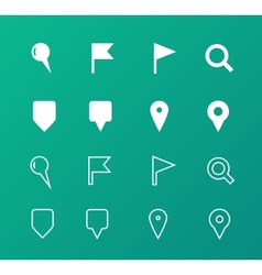 GPS and Navigation icons on green background vector image