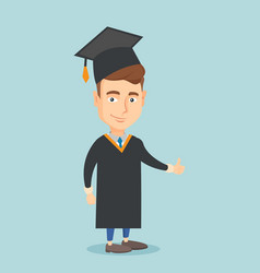 graduate giving thumb up vector image