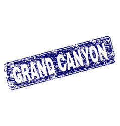 Grunge grand canyon framed rounded rectangle stamp vector