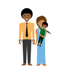 happy afroamerican family love members vector image