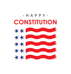 Happy constitution day template design vector