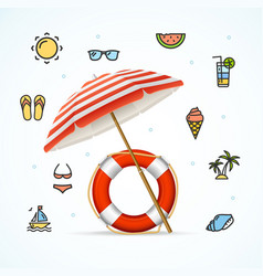 hello summer concept vacation on beach vector image