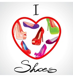 i love shoes vector image