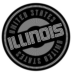 Illinois typographic stamp vector