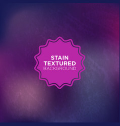 Indigo grunge background with stained texture vector