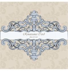 Invitation card with royal ornaments vector image