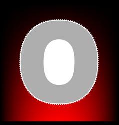 letter o sign design template element postage vector image