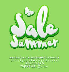 Logo summer sale vector