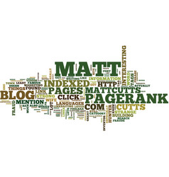 Matt cutts says text background word cloud concept vector