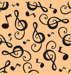 music notes pattern vector image