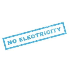No Electricity Rubber Stamp vector