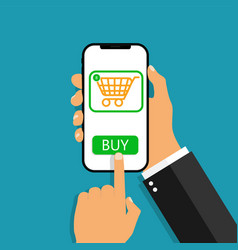 Payment online from phone buy from credit wallet vector