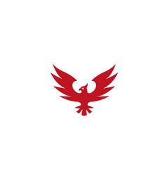 phoenix slogan spread wings and earleor hawk logo vector image