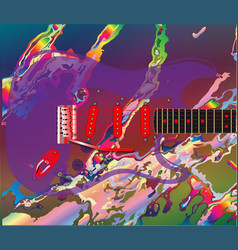 Psychedelic guitar background vector
