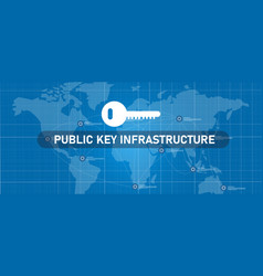 Public key infrastructure or pki in network vector