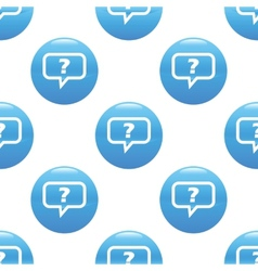 Question reply sign pattern vector