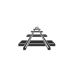 railroad icon isolated flat design vector image