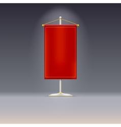 Red pennant or flag on chrome base vector