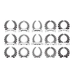 Set of elegant round frames eps8 vector image
