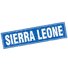Sierra Leone blue square grunge vintage isolated vector