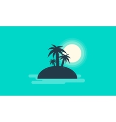 Silhouette of small islands landscape vector