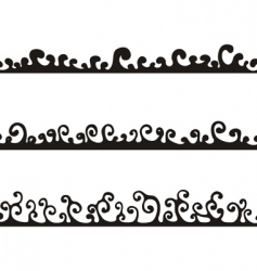 sketched curls vector image