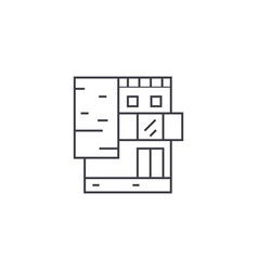 small office building thin line icon concept vector image