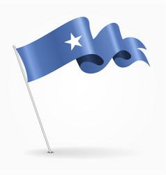 Somalian pin wavy flag vector